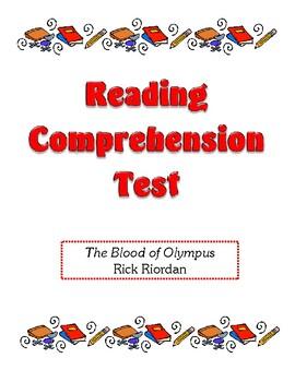 Comprehension Test - The Blood of Olympus (Riordan)