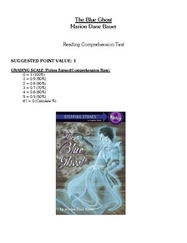 Comprehension Test - The Blue Ghost (Bauer)