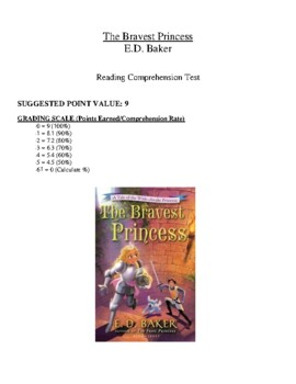 Comprehension Test - The Bravest Princess (Baker)