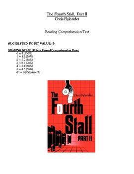 Comprehension Test - The Fourth Stall, Part II (Rylander)