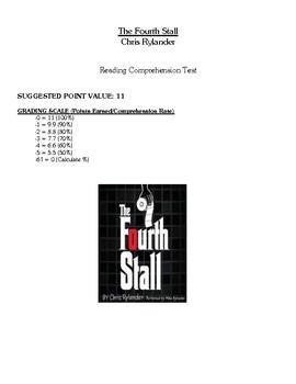 Comprehension Test - The Fourth Stall (Rylander)