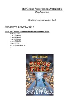 Comprehension Test - The Genius Files-Mission Unstoppable (Gutman)