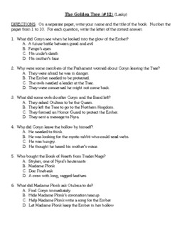 Comprehension Test - The Golden Tree, #12 (Lasky)