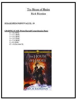 Comprehension Test - The House of Hades (Riordan)