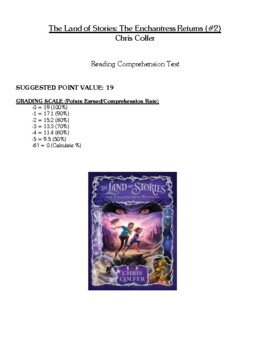 Comprehension Test - The Land of Stories: The Enchantress Returns (Colfer)