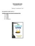 Comprehension Test - The Lemonade Crime (Davies)