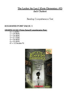 Comprehension Test - The Locker Ate Lucy (Chabert)