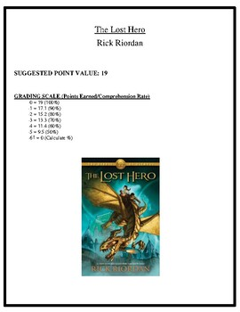 Comprehension Test - The Lost Hero (Riordan)