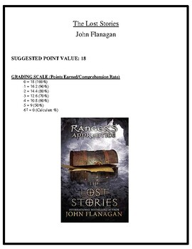 Comprehension Test - The Lost Stories (Flanagan)