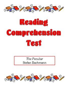 Comprehension Test - The Peculiar (Bachmann)