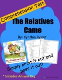 Comprehension Test: The Relatives Came