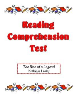 Comprehension Test - The Rise of a Legend (Lasky)