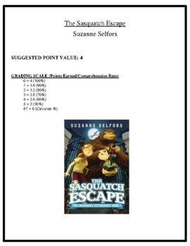Comprehension Test - The Sasquatch Escape (Selfors)