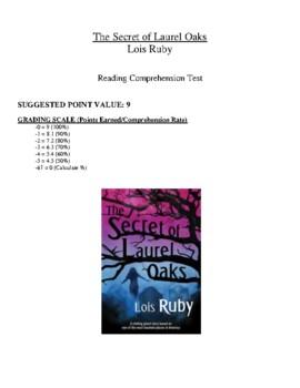 Comprehension Test - The Secret of Laurel Oaks (Ruby)