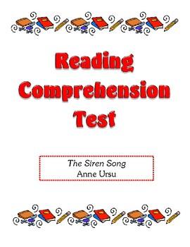 Comprehension Test - The Siren Song (Ursu)