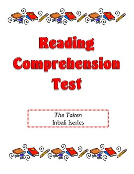 Comprehension Test - The Taken (Iserles)