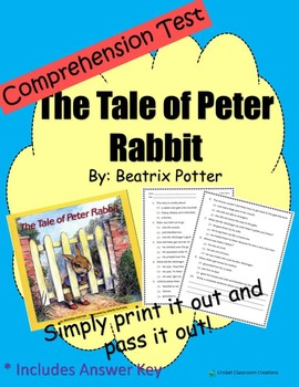 Comprehension Test: The Tale of Peter Rabbit - First or Second Grade
