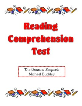 Comprehension Test - The Unusual Suspects (Buckley)