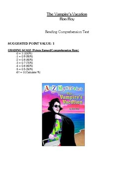 Comprehension Test - The Vampire's Vacation (Roy)