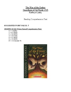 Comprehension Test - The War of the Ember, Guardians of Ga'Hoole (Lasky)