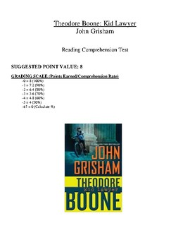 Comprehension Test - Theodore Boone Kid Lawyer (Grisham)