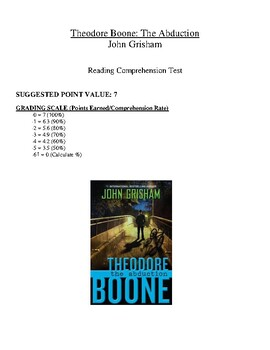 Comprehension Test - Theodore Boone: The Abduction (Grisham)
