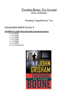 Comprehension Test - Theodore Boone: The Accused (Grisham)