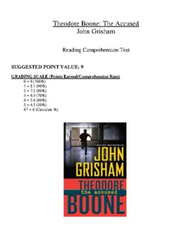 Comprehension Test - Theodore Boone: The Accused (Grisham)