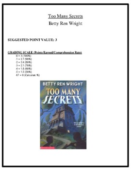 Comprehension Test - Too Many Secrets (Wright)