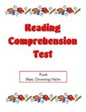 Comprehension Test - Took (Hahn)