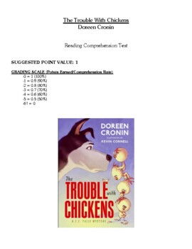 Comprehension Test - Trouble With Chickens (Cronin)