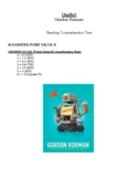Comprehension Test - Ungifted (Korman)