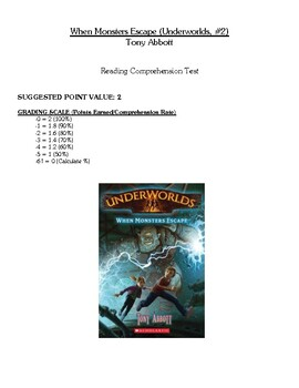 Comprehension Test - When Monsters Escape (Abbott)