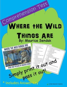 Comprehension Test: Where the Wild things Are
