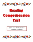 Comprehension Test - Zane and the Hurricane (Philbrick)
