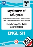 Comprehension – The donkey, the table and the stick – Year 4