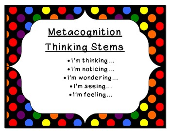 Comprehension Thinking Stems (Comprehension Sentence Starters)