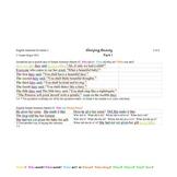 Comprehension Through Grammar Sleeping Beauty 1B Colour Parsing T