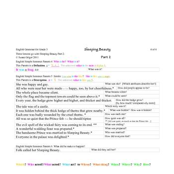 Comprehension Through Grammar Sleeping Beauty 2C Exercises S