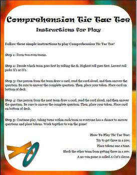 Comprehension Tic Tac Toe: A Reading Center Aligned to the 4th-Grade Common Core