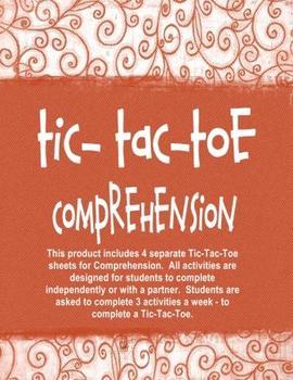 Comprehension Tic-Tac-Toe Independent Activities