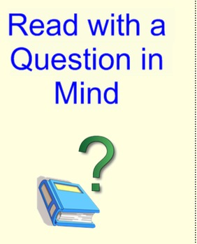 """Comprehension Toolkit Lesson 14 """"Read With a Question in Mind"""""""