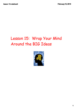 Comprehension Toolkit Lesson 15: Wrap Your Mind Around the BIG Ideas *PDF