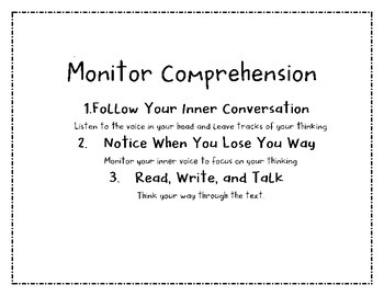 Comprehension Toolkit Posters