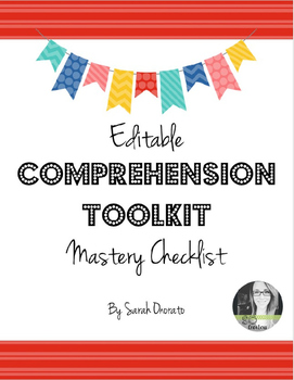 Comprehension Toolkit Reading Strategies: Mastery Checklist
