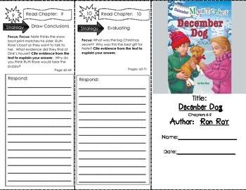 Comprehension Tri-Fold - Calendar Mysteries December Dog, by Ron Roy