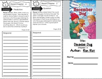 Comprehension Tri-Fold - Calendar Mysteries December Dog, by Ron Roy