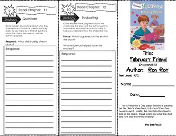 Comprehension Tri-Fold - Calendar Mysteries February Friend, by Ron Roy