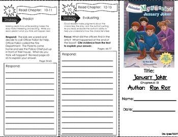Comprehension Tri-Fold - Calendar Mysteries January Joker, by Ron Roy