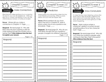 Comprehension Tri-Fold - Calendar Mysteries New Year's Eve